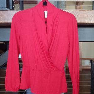 Tweeds red long sleeve, red top